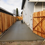 Side Yard Concrete in Vacaville