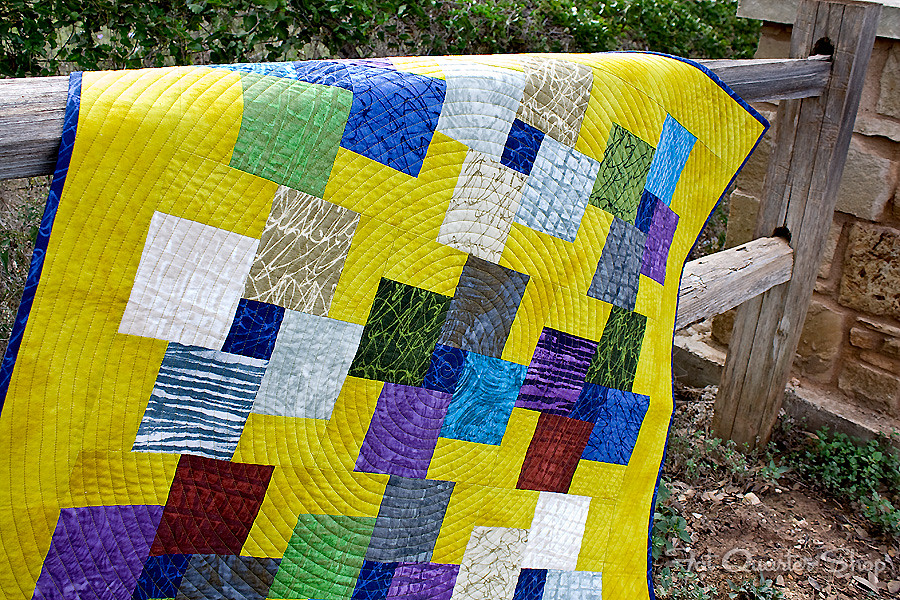 Turnstile Quilt Kit featuring Mosaic Fabric by Marcia Derse for Wilmington Prints