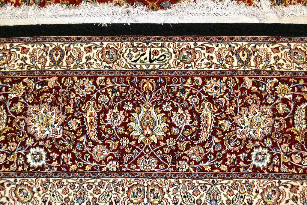 Mashhad Persian Sultan Rug - Saber Signature