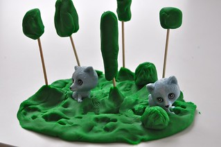 Playdough Forest for Raccoons