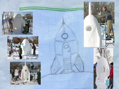 2014 Snow Sculpture Rocket-ship Plans