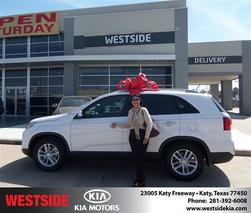 Happy Anniversary to Carrie Matos on your 2014 #Kia #Sorento from Gilbert Guzman  and everyone at Westside Kia! #Anniversary by Westside KIA