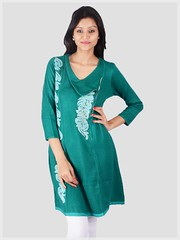 Green Winter Wear Kurti