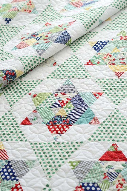 Starlight Quilt by Thimble Blossoms featuring April Showers by Bonnie and Camille for Moda Fabrics