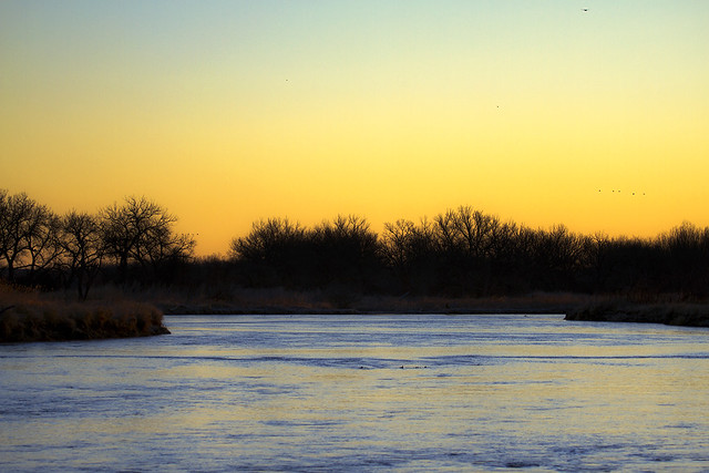 Sunrise on the Platte River