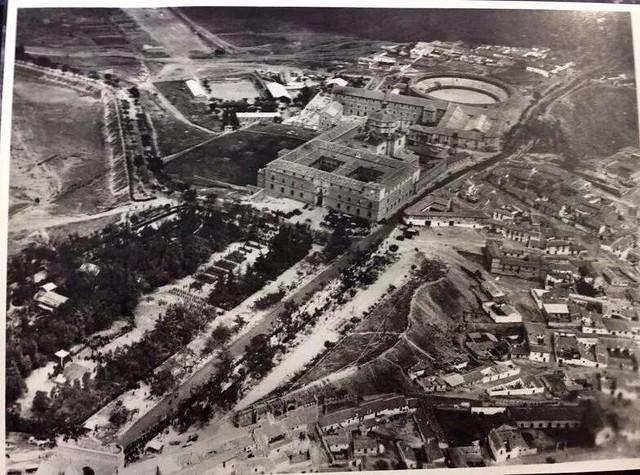 Foto aérea del Paseo de Merchán hacia 1960