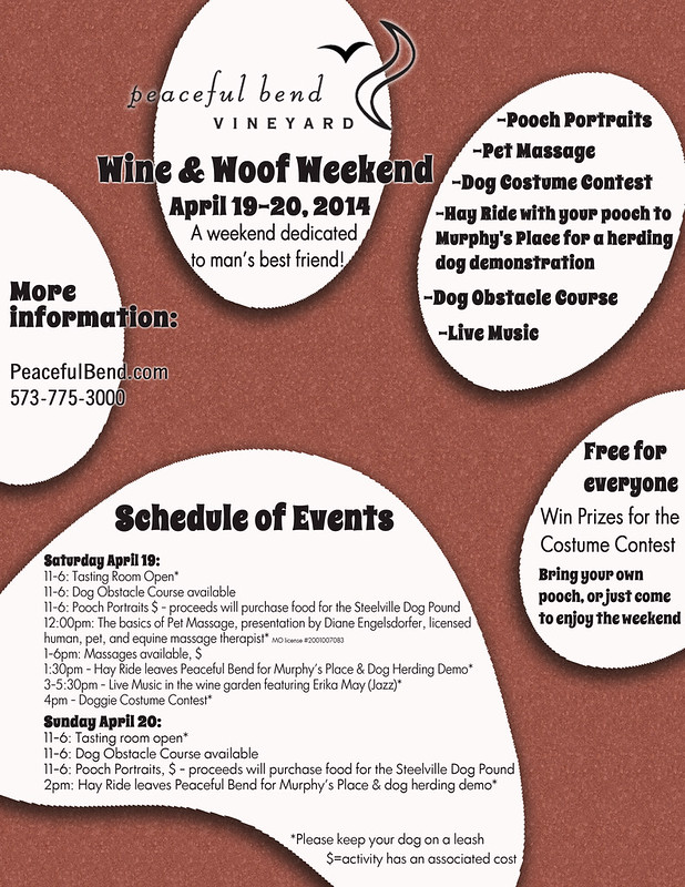 2014 Wine and Woof Flyer