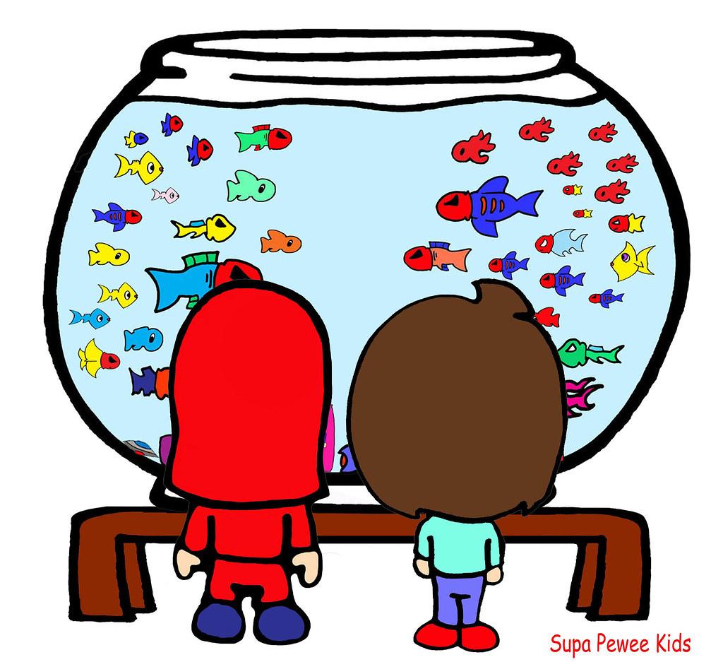 Mason B-Pop Fish Bowl Cartoon Kid Aquarium Bad Girl Boy Mask Fish ...