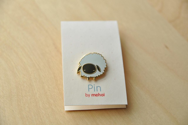 adorable sheep pin