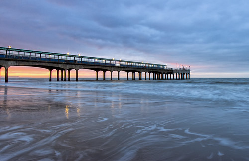 ocean seascape sunrise landscape pier lowlight dorset