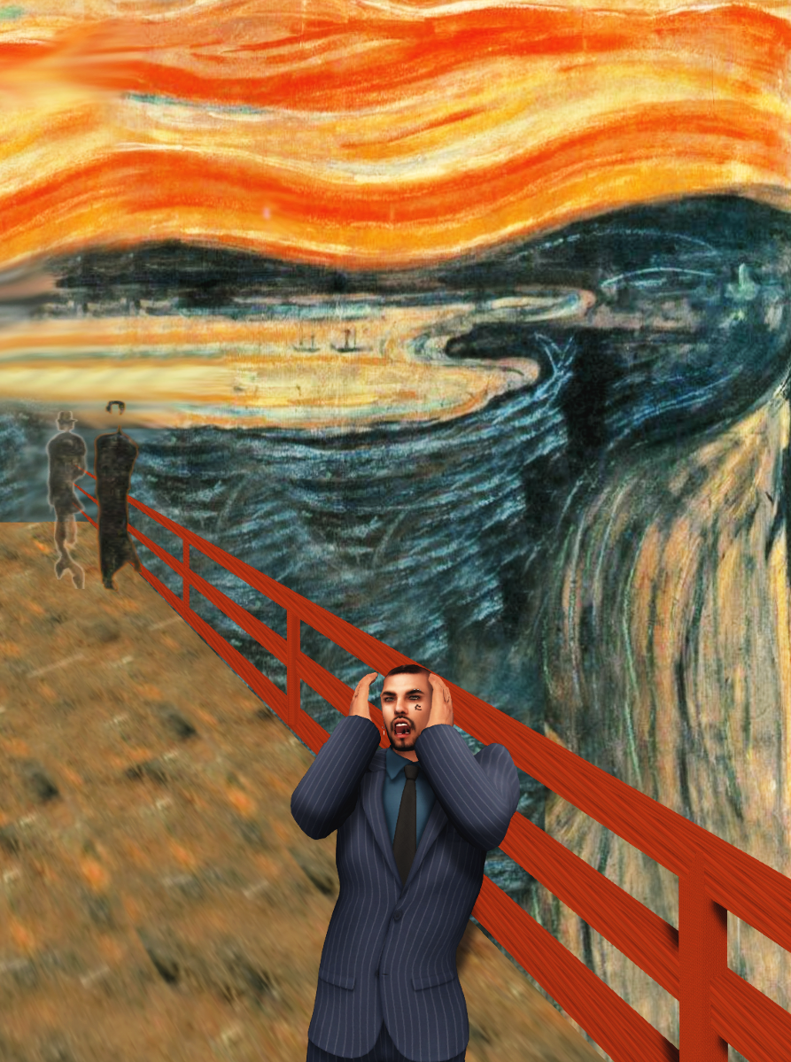 Infinite scream passing through nature: inspired on Munch's