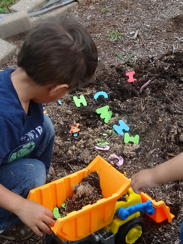 Sensory Alphabet Dig (Photo from Growing Book by Book)