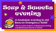 Soup & Sweets Evening to raise funds for Beacon Emergency Relief