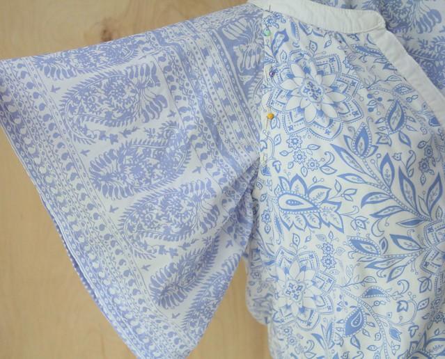 how to add drape sleeves to a sleeveless dress tutorial refashion diy