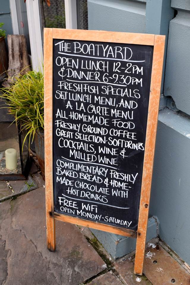 Blackboard at The Boatyard, Isle of Man