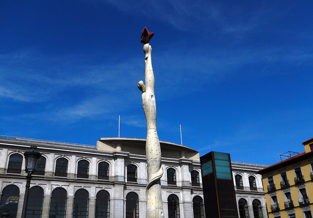 A sculpture out front of the Reina Sofia in Madrid, Spain