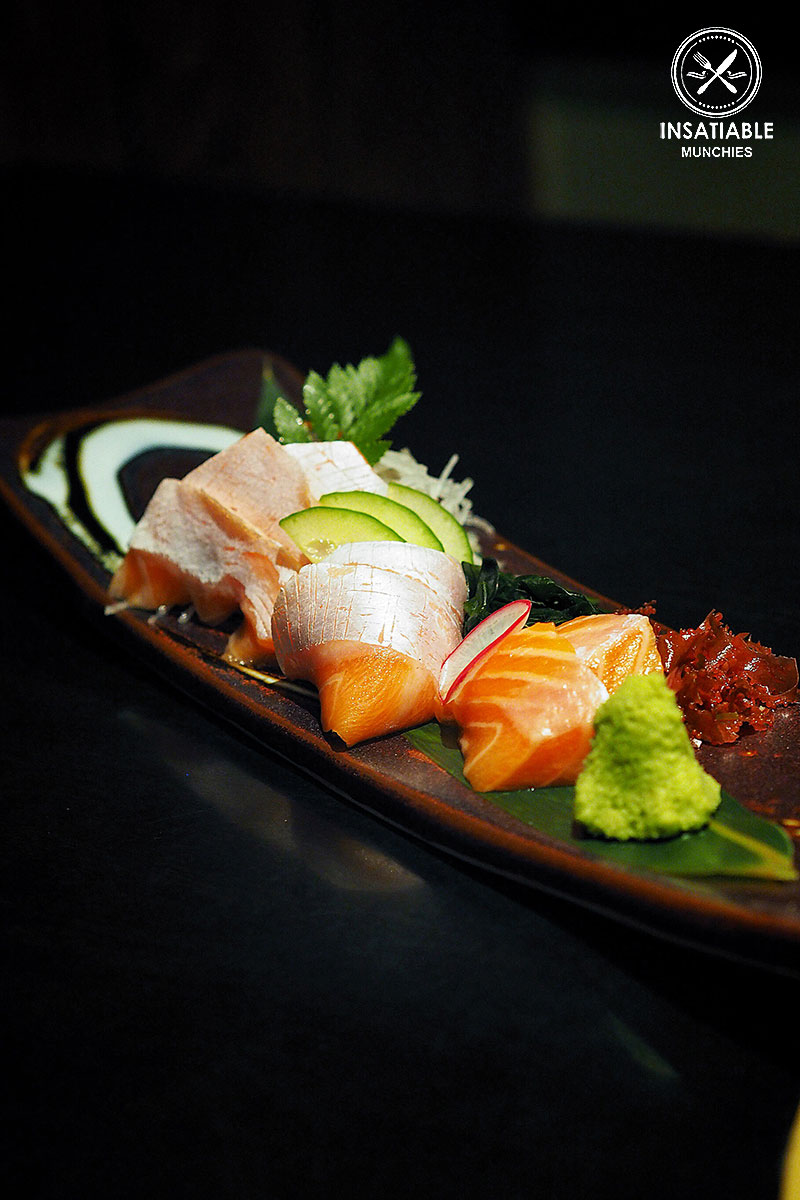 Sydney Food Blog Review of Rengaya, North Sydney: Salmon Belly Sashimi, $17.90