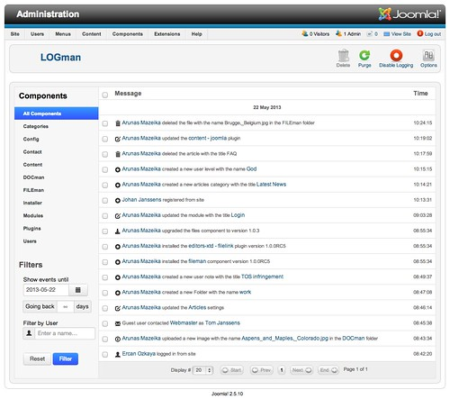 LOGman 1.0 RC4 - Activity Overview