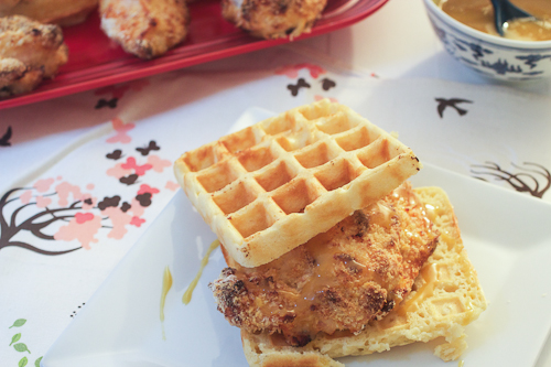 Chicken and Waffle Sandwiches + Celebrating 2nd Blog Anniversary!
