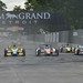 Mike Conway goes to the inside of Tristan Vautier and Charlie Kimball
