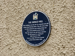 Photo of Joseph Mallord William Turner and manorial corn mill, Knaresborough black plaque