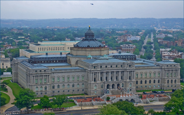 Library of Congress -- View East from the U.S. Capitol Dome (DC) June 2013