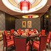 Cool double Red Circular ceiling lights in Private dining room with Red Chinese Table & chairs at the House of Fame of Crowne Plaza Shanghai Anting