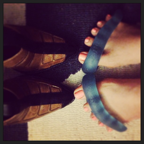 Alexander Wang vs. Yoga Toes #goingtoetotoe #happyfeet #alexanderwang #highheels #stretch