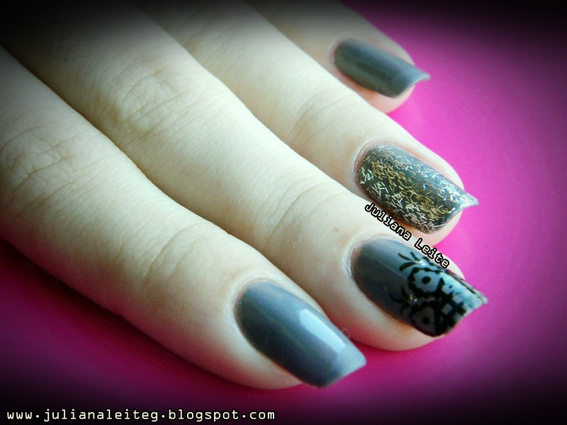 juliana leite unhas nail art decoradas desenho glitter 071