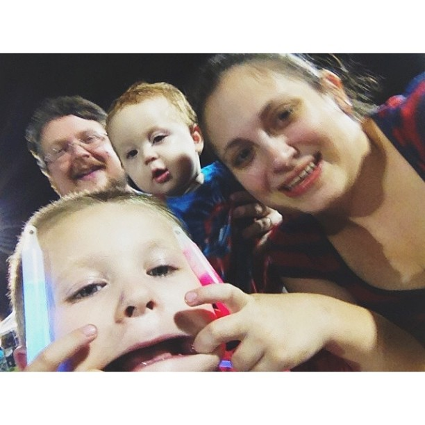 Me and @explorerziem with the littles last night seeing fireworks. So much fun! #pictapgo_app #latergram #july4th