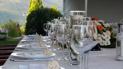 flower arranging, wine glass, restaurant, floral design, centrepiece, banquet, rehearsal dinner, floristry,