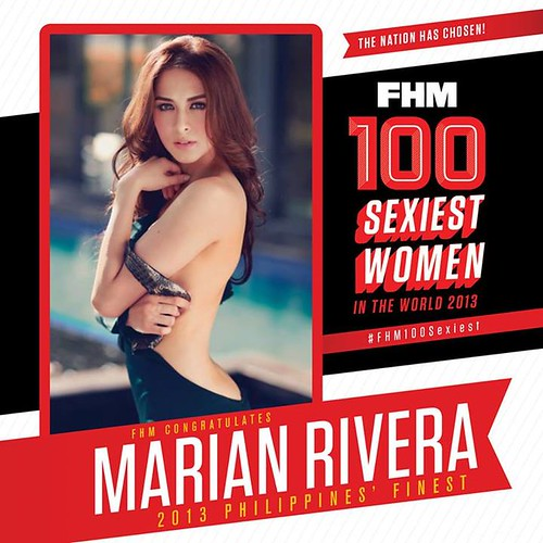 Marian Rivera - top 1 - FHM 100 Sexiest Women 2013