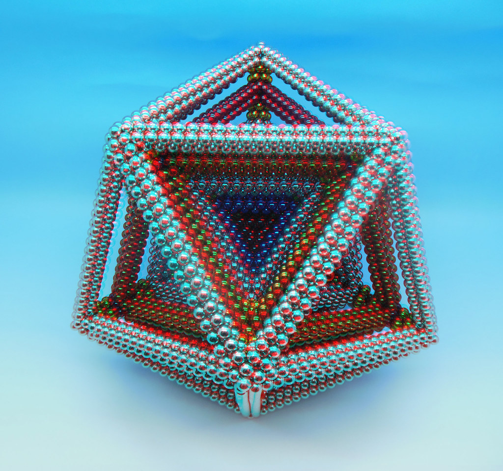 Colorful-3D-Multi-Layered Dodecahedron-2