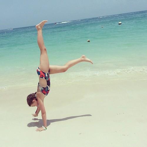Beachnastics. #SponsoredByCarnival