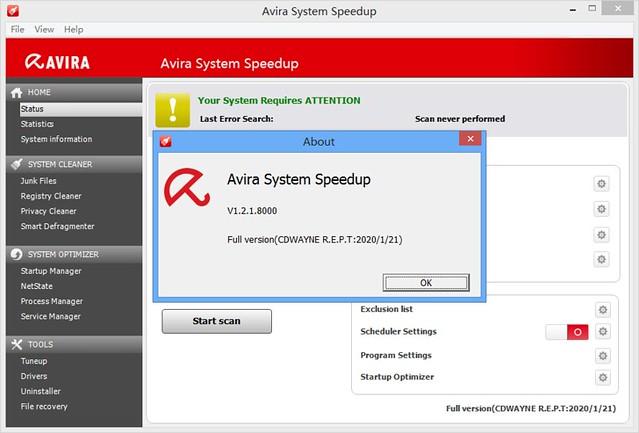 Avira System Speedup v1.2.1.8000