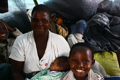 Tereza and her children, Bubukwanga transit center, Uganda