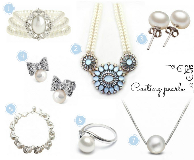 Pearls, pearl jewelry, pearl ring, pearl necklace, pearl earrings, pearl bracelet, fashion blog. casting pearls, don't cast your pearls before swine