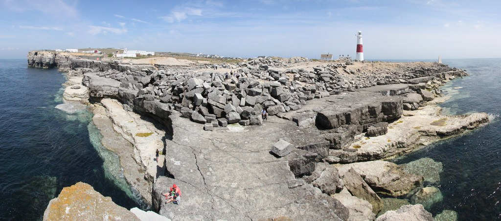 Panorama from Pulpit Rock of Portland Bill, Isle of Portland, Dorset, England
