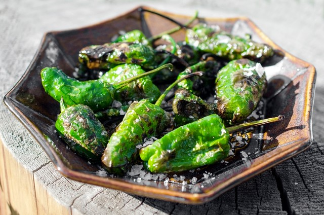Grilled Padrón Peppers