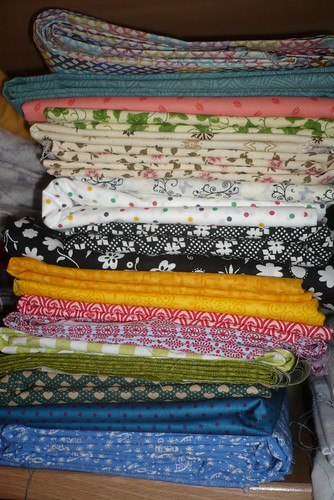 assorted backing fabrics