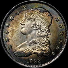 Newman 1833 B-1 Quarter obverse