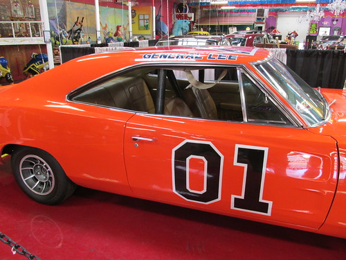 "The Dukes of Hazzard TV show ""General Lee 1969 Dodge Charger.  The Volo Auto Museum.  Volo Illinois.  June 2013. by Eddie from Chicago"