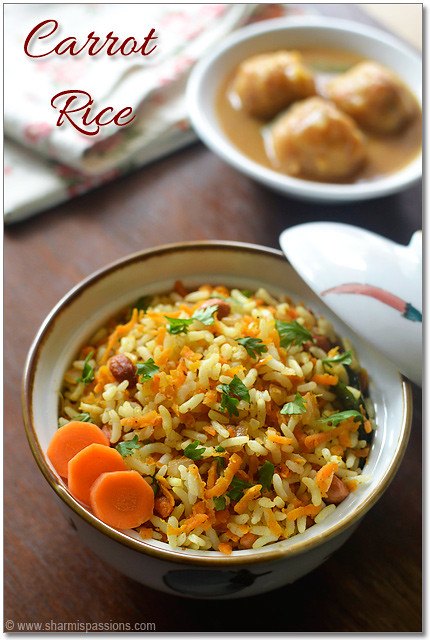 Carrot Rice Curry Recipe