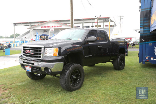 Cool lifted GMC truck