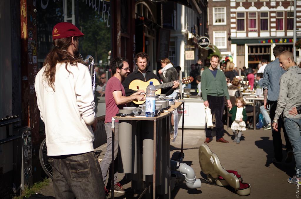 Amsterdam, Sunny Day at Nieuwmarkt