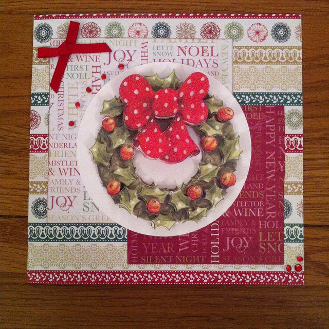 Docrafts Design Team - Christmas Wreath Card