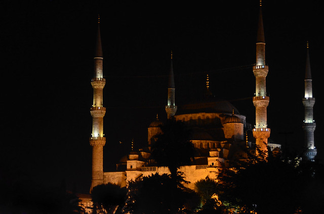Mezquita Azul de noche