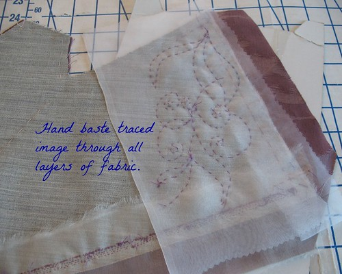 Lilacs Lace Transferring A Beading Pattern To Fabric A Tutorial