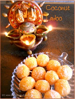 recipe of making coconut ladoos