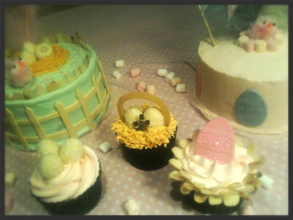 Mones i cupcakes de pasqua